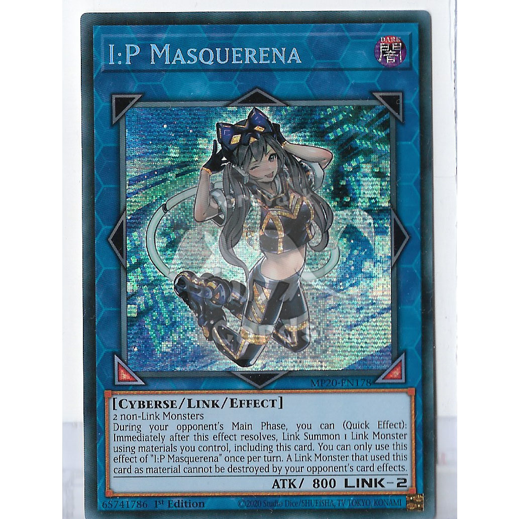 MP20-EN178 I:P Masquerena Prismatic Secret Rare 1st Edition Mint YuGiOh Card